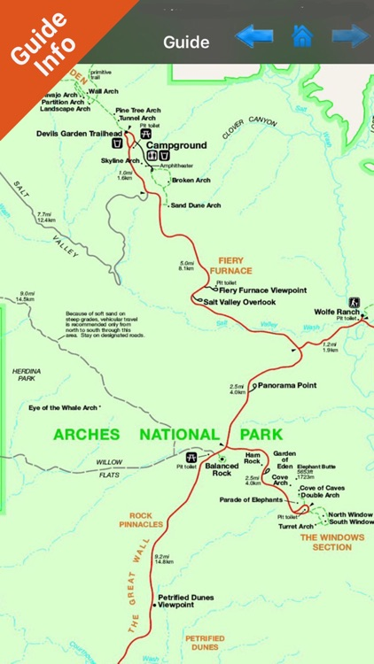 Arches National Park GPS Chart screenshot-3