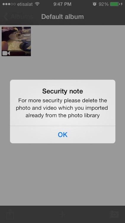 قفل الصور والفيديو screenshot-3