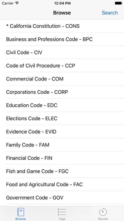 California Code