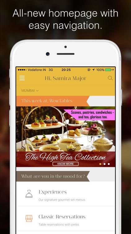 WowTables: Gourmet Restaurants