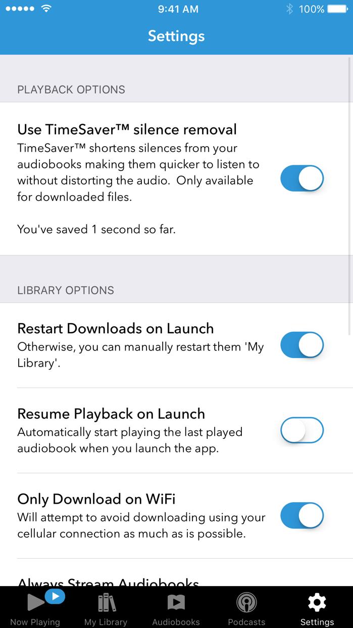 Audiobooks Screenshot