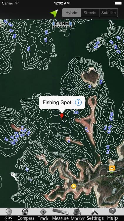 Lake Sidney Lanier GPS Charts screenshot-3