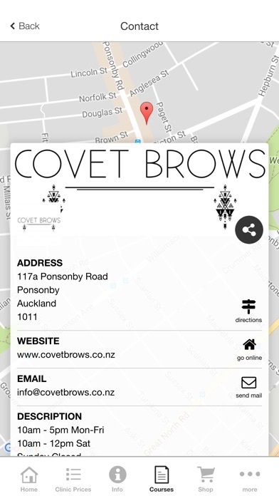 Covet Brows Screenshot on iOS