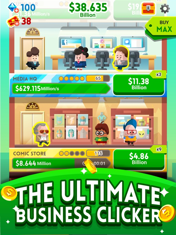 Screenshot #2 for Cash, Inc. Fame & Fortune Game