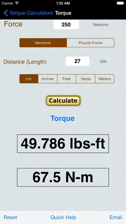 Torque Calculator, Units Conv screenshot-3