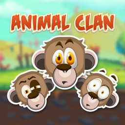Animal Clan Monkey Stickers