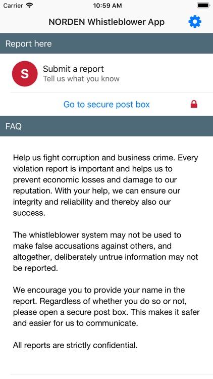 NORDEN Whistleblower App