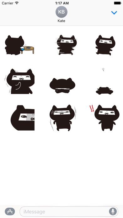 Animated Ninja Cat Sticker Gif screenshot 2