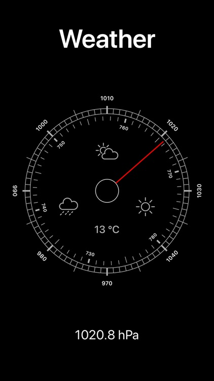 Altura: Barometric pressure screenshot-2
