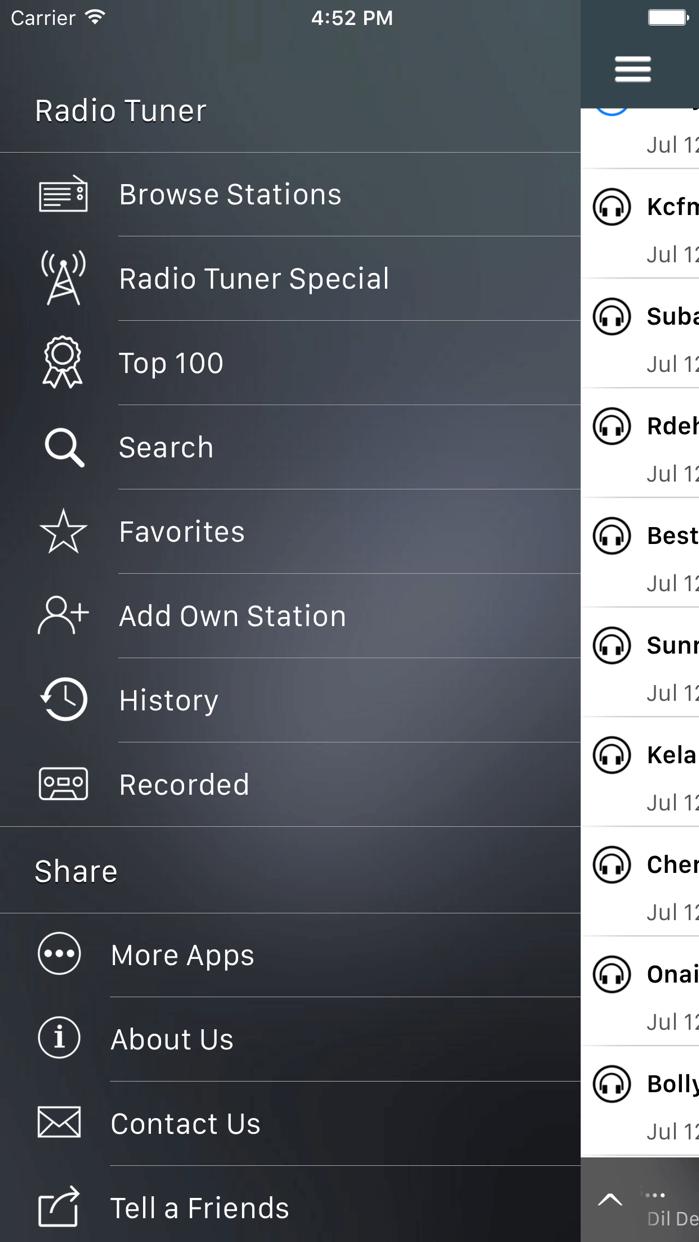 Radio Tuner - Live FM Stations Screenshot