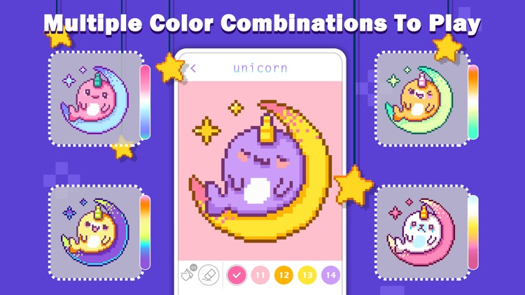 Unicorn Art: Color By Number screenshot-3