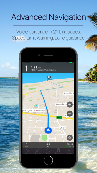 Dominican Rep GPS Navigation Screenshot