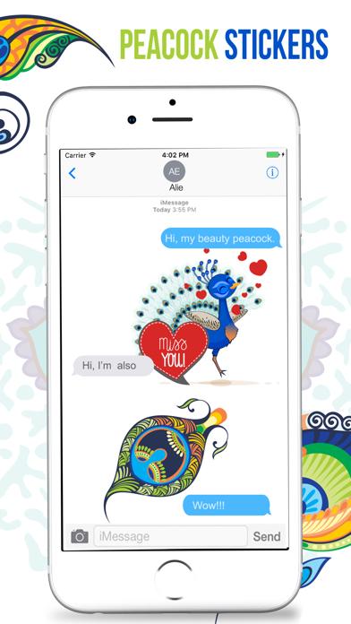 Peacock Stickers screenshot four