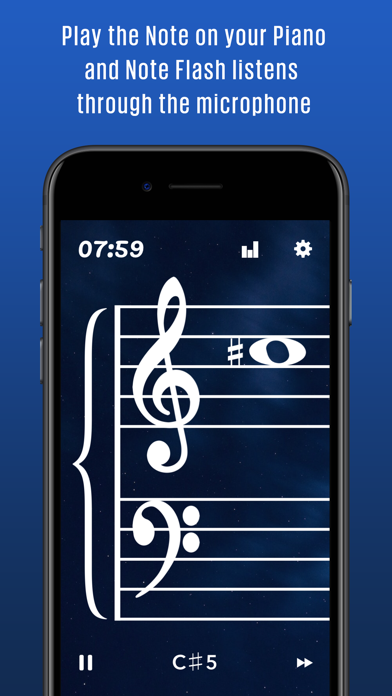 Note Flash Music Sight Reading screenshot one