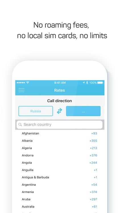 Drimsim — international calls