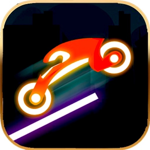 Neon Biker Rider Flip