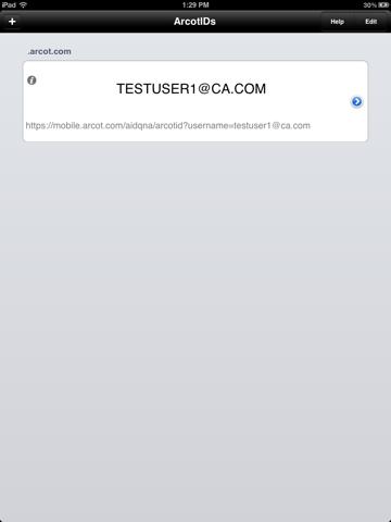 Screenshot of CA Auth ID