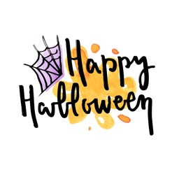 Watercolor Halloween Text Card