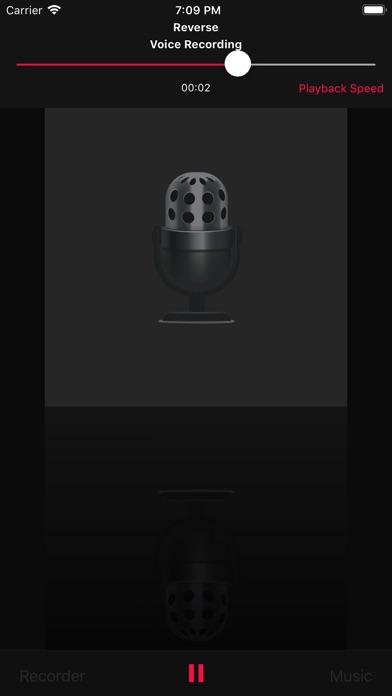 Reverse Music Player screenshot1