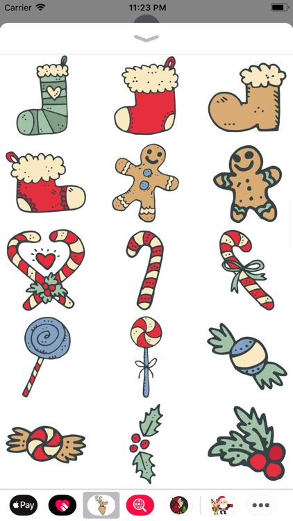 Christmas Doodles Sticker Pack by BPC
