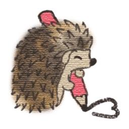 Cute Hedgehog and Love Sticker