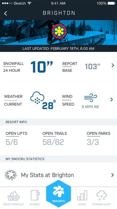 Ski Utah Snow Report review screenshots