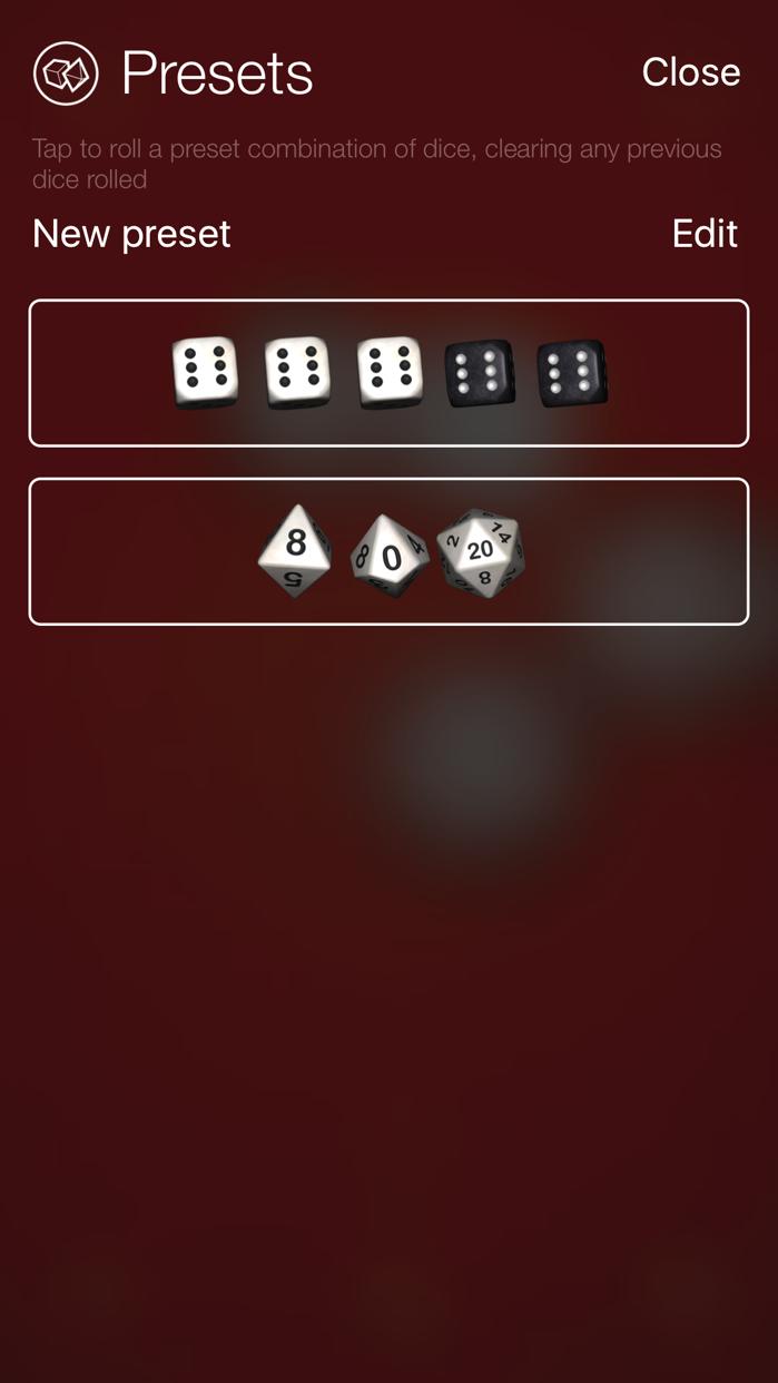 Nice Dice - 3D dice roller Screenshot