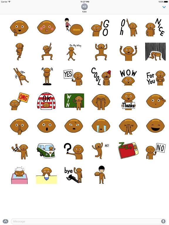 Rugby Ball Emoji Sticker screenshot 4