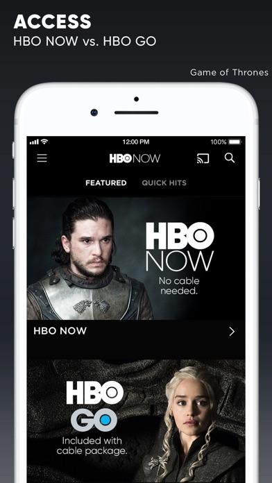Screenshot of HBO NOW App