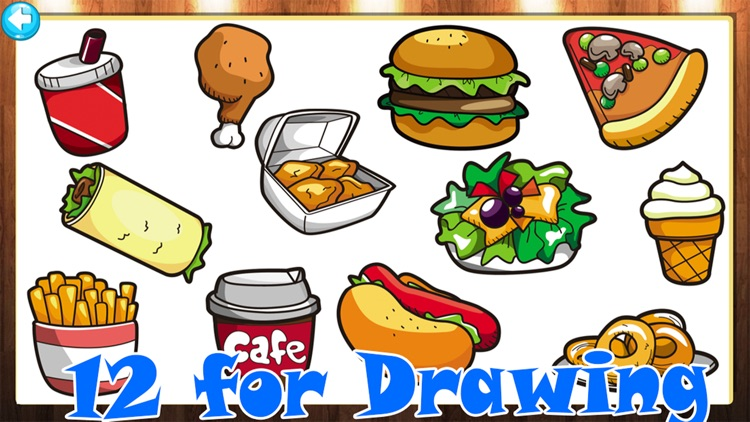 My Food Draw or Paint Learning screenshot-1