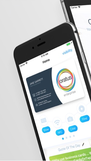 Cardsontap business card app on the app store iphone screenshots colourmoves