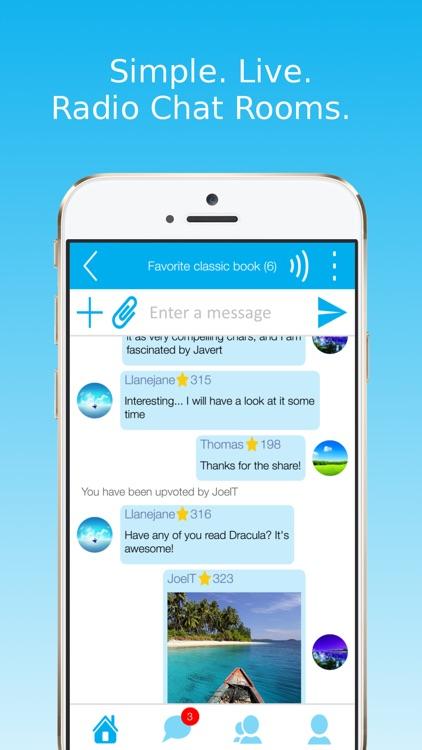 SwiftChat: Radio Chat Rooms screenshot-0