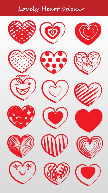 Heart Sketch Stickers for iMessage
