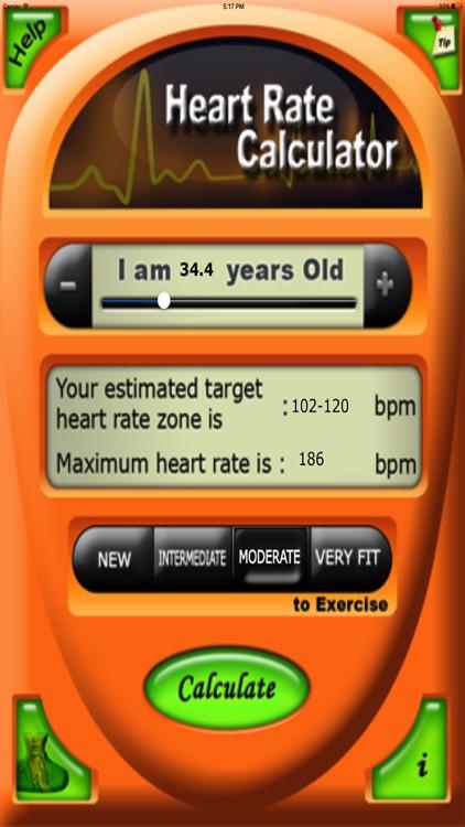 Health Target Heart Rate Calc