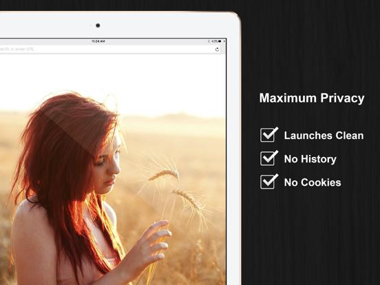 FREE Full Screen Private Browsing Web Browser for iPhone & iPad screenshot