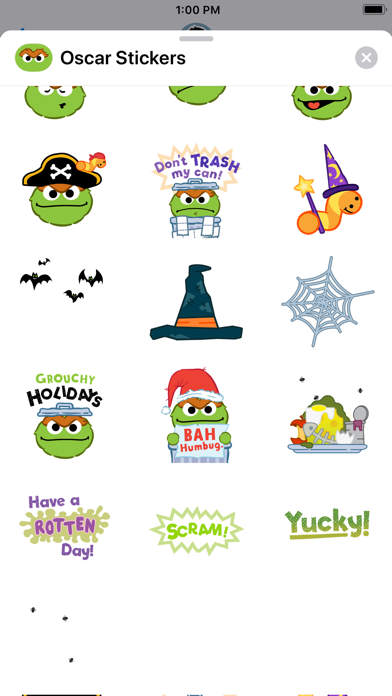 Oscar the Grouch Stickers screenshot two