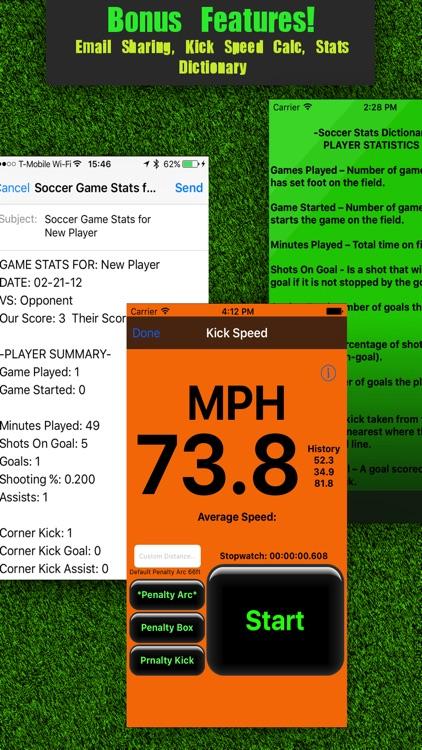 Soccer Stats Tracker Touch screenshot-4