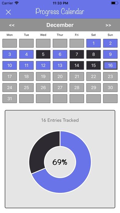 New Years Resolutions Tracker screenshot 2