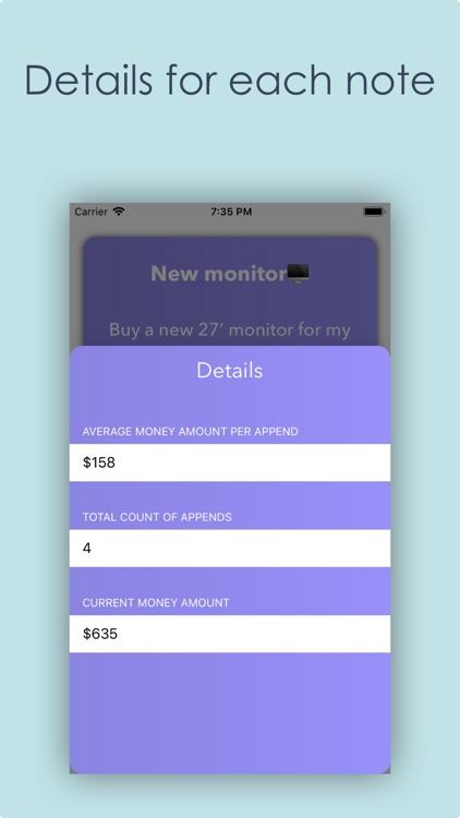 Money box App - Plan purchases screenshot-4