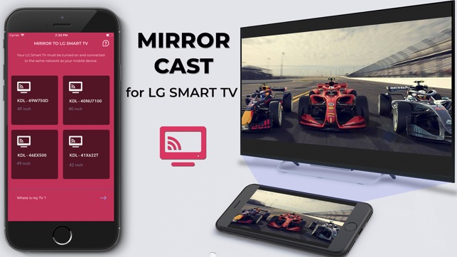 Mirror for LG TV -Pro Miracast Screenshot