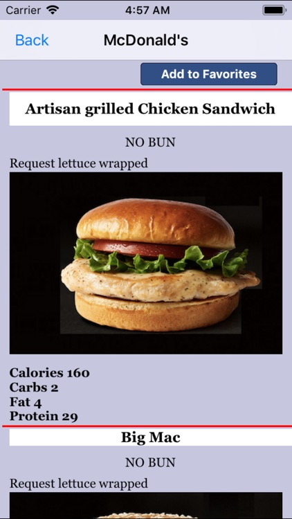 Keto Diet : Fast Food App screenshot-2