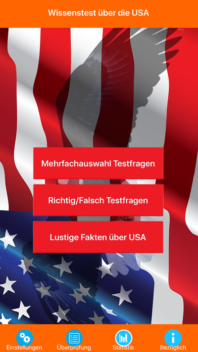 USA Wissenstest Quiz screenshot 1