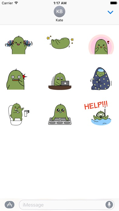 Animated Lovely Cactus Sticker - 窓用
