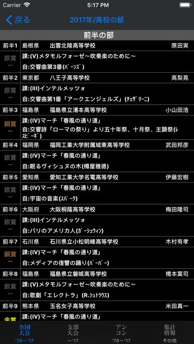 全日本吹奏楽コンクールデータベース for iPhone ScreenShot1