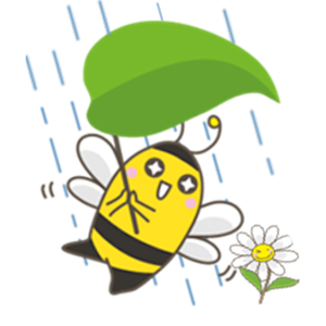 Adorable Yellow Bee Sticker app