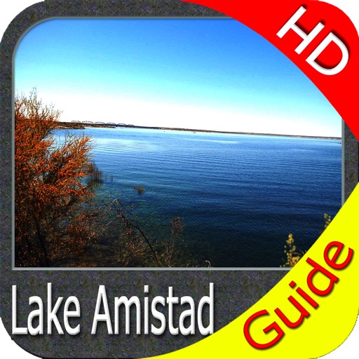 Amistad lake HD GPS charts fishing maps Navigator