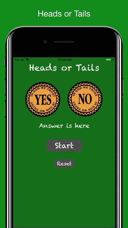 Coin Flip : Heads or Tails
