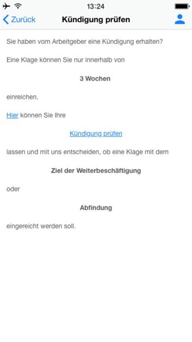Kündigung prüfen screenshot three