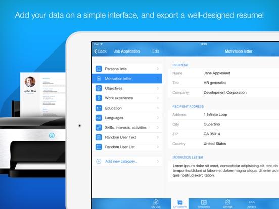Resume Builder, Resume Creator Screenshots