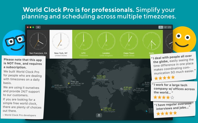 World clock pro on the mac app store world clock pro on the mac app store gumiabroncs Choice Image